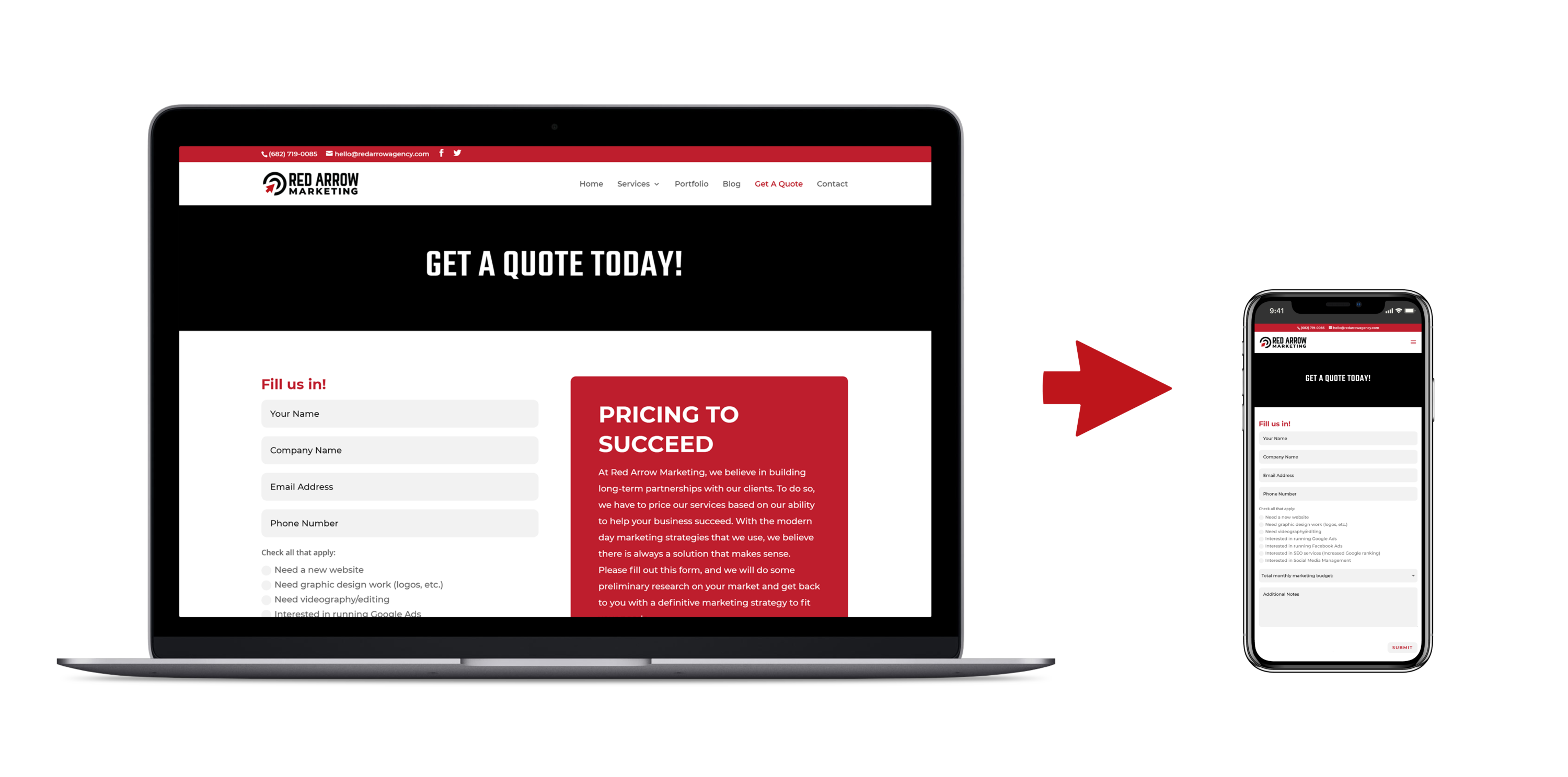 What Is Responsive Web Design And Why It S Essential To Your Business Red Arrow Marketing